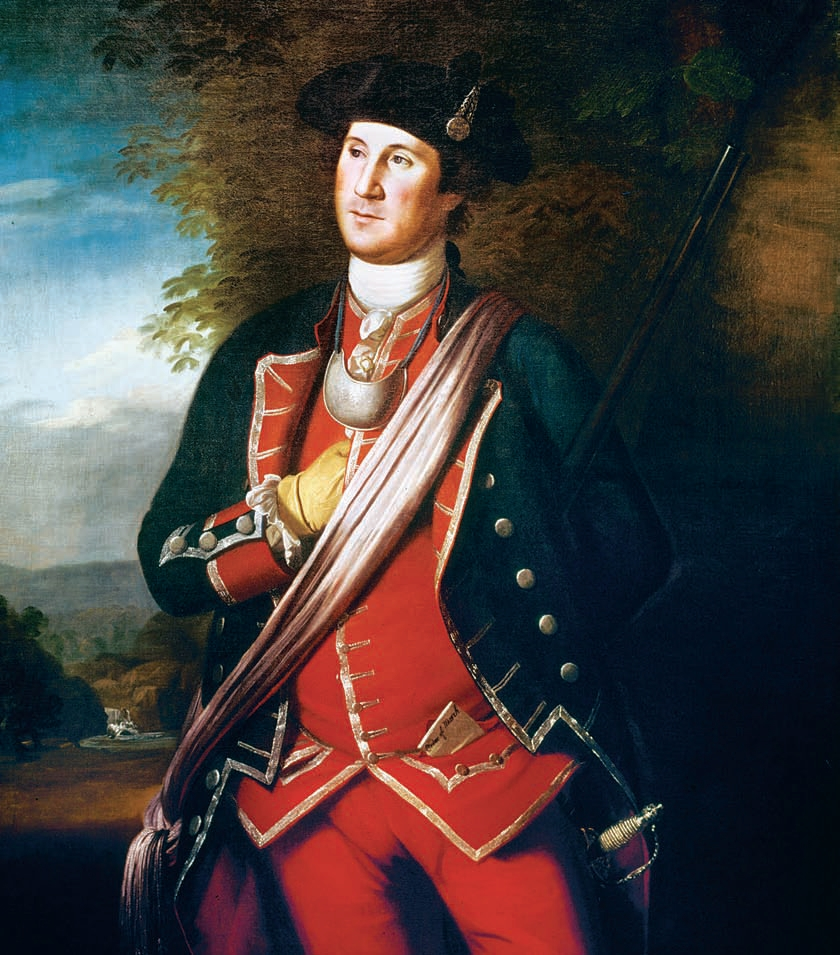 George Washington in his Virginia Regimental Uniform