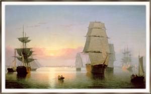 Boston Harbor at Sunset