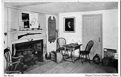 This is From Munroe Tavern in Lexington, MA, But is Typical of Taverns - Really Rooms Set Aside for Drinking and Entertainment in an Ordinary Home