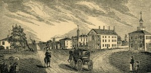 1839 Print Showing the Red Inn (Curtis) Before the Mid-Century Additions