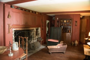 The Birthing Room, Bidwell House - Original Fireplace and Paneling
