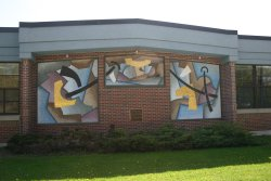Morris Elementary with Mural