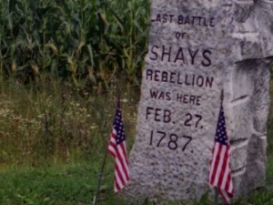 The Marker Noting the End of Shays Rebellion Was Installed in Sheffield About 100 Years After the Event