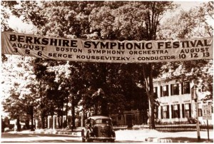 First Berkshire Symphonic Festival in 1934 Advertised in Lenox