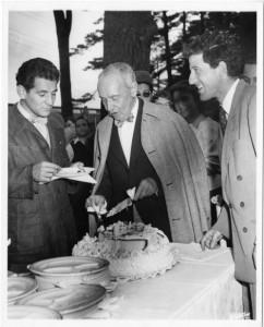 Leonard Bernstein, Serge Koussevitzky and Lukas Foss