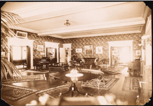 Reception Area - Curtis Hotel c. 1900