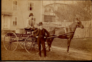 Sears and Cook with Their Wagon