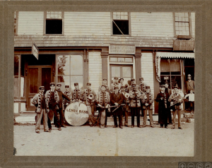 Lenox Town Band in Front of Peters Bike Shop